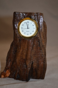 Rough Wood Clock