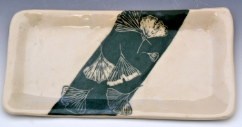 Rectangular Gingko Tray