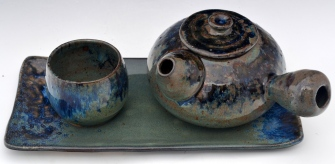Ash Blue Teapot set