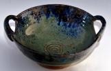 Ash blue Serving Bowl