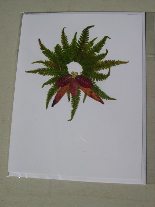 Christmas Leaf card