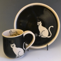 Cat Mug and Bowl