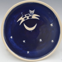 Cow Jumps Over Moon Plate