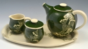 Gingko Tea Set with tray