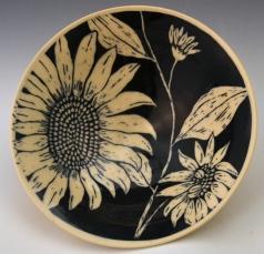 Sunflower Serving Bowl