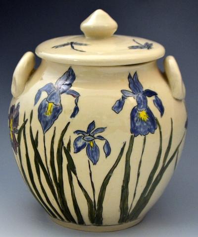 Iris Cookie Jar
