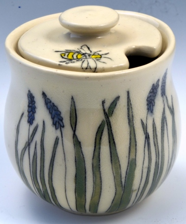 Iris Honey Jar