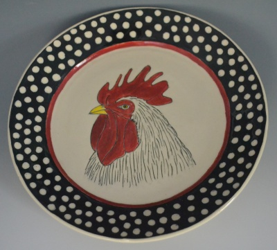 Rooster Serving Plate