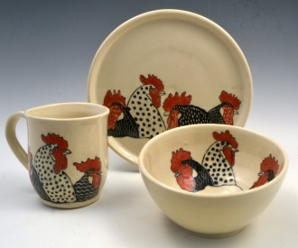 Rooster Breakfast Set
